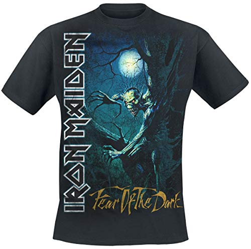 Iron Maiden Fear of The Dark Hombre Camiseta Negro 3XL, 100% algodón, Regular