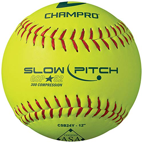 "CHAMPRO ASA 12"" Slow Pitch Softball - Durahide Cover .52 COR"
