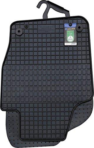 PETEX Gummimatten passend für Polo ab 06/2009-09/2017 / Cross Polo ab 2010-09/2017 Fußmatten schwarz 4-teilig