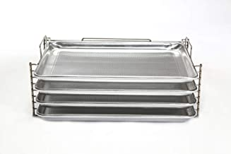 Bull Rack - BR4 - Grill Tray System - Grill, Smoke, Dry and Cure Meats and Vegetables - Grilling Rack and Tray