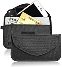 Faraday Bag - RFID Signal Blocking Bag Shielding Pouch for Car Key Fob and Cellphone Privacy Protection Including 1 Signal Blocking Pocket and 1 Normal Pocket (2 Pack)