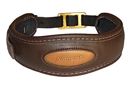 Niggeloh Hundehalsband Premium Halsung, braun, S, 091100032