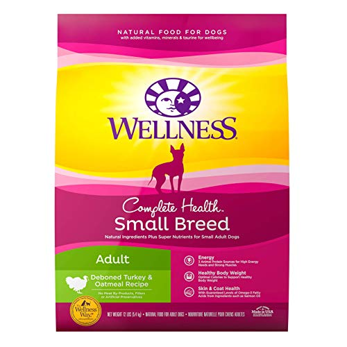 Wellness Complete Health Natural Dry Small Breed Dog Food, Turkey & Oatmeal, 12-Pound Bag
