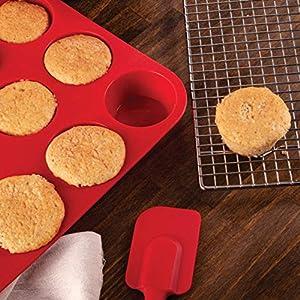 Mrs. Anderson?s Baking 43630 12-Cup Muffin Pan, Non-Stick European-Grade Silicone