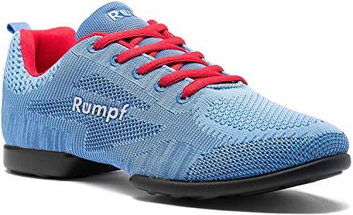 Rumpf Zuma 1567 Tanz-Sneaker mit geteilter Sohle, für Herren und Damen, blau.