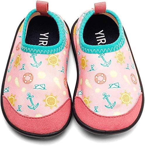 Ysuta Zapatillas acuáticas Bebé Niña Niño Recien Nacido Primeros Pasos Zapatos de Agua Calcetines Natación Piscina Playa Antideslizante 0-24meses 11CM