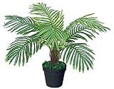Decovego Palme Palmfarn Sagopalme Kunstpflanze Plastik Künstliche Pflanze 60cm