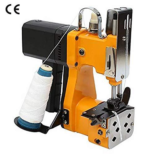 HUKOER Draagbare naaimachine 220V elektrische industriële verpakkingsmachine voor slangenleerzak Plastic zak Papieren zakzak, geel