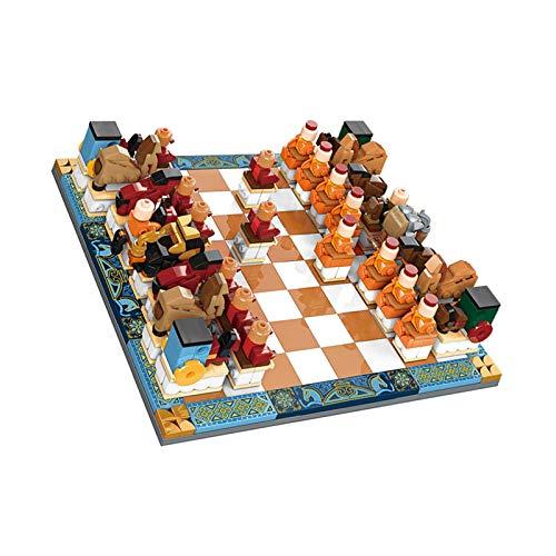 Checkers Tic Tac TOE Bausteine, DIY Montieren 3D Puzzle Modell Klassische Indoor- und Outdoor-Aktivität für Kinder und Erwachsene, am besten für Camping, Hinterhof oder Rasenspiel, 22.4x22.4cm 8bayfa