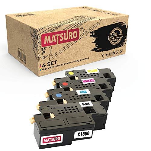 Matsuro Original | Kompatibel Tonerkartusche Ersatz für Dell C1660 (1 Set)
