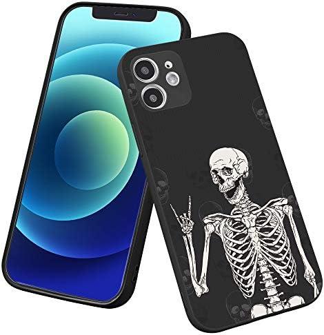 LuGeKe Skeleton Phone Case for iPhone 7 iPhone 8 iPhone SE 2020 Smile Skull Patterned Boys Design product image