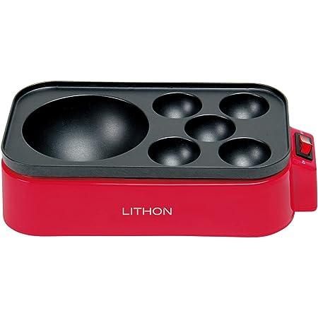 LITHON (ライソン) D-STYLIST ギガたこ焼き器 レッド KDTK-001R   たこ焼き器   超絶!ビッグサイズ・直径約10cm