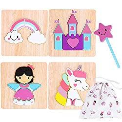 wooden princess and fairytale puzzles