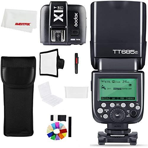 Godox TT685F 2.4G HSS TTL GN60 Flash Speedlite con X1T-F Trigger Transmitter Kit per Fuji X-Pro2/X-T20/X-T1/X-T2