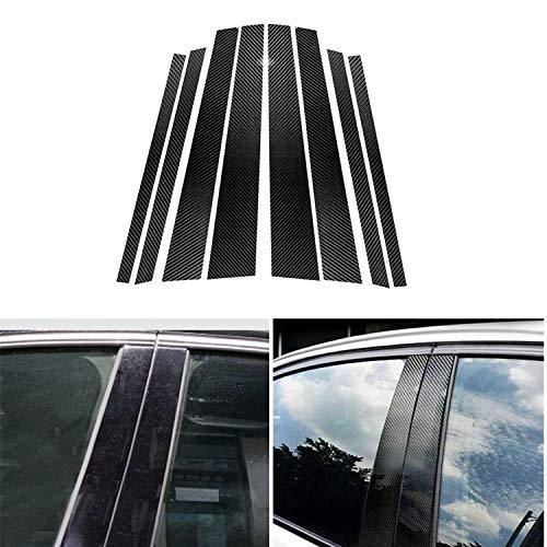 BTOEFE Auto Real Carbon Fiber Fenster B-Säule Formdeckel Verkleidung, Für BMW E90 E60 F30 F10 X5 X6 E70 E71 F15 F16 F07 X3 F25 E46 X1 E84