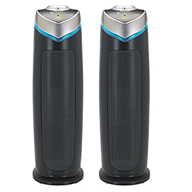 """GermGuardian AC4825 22"""" 3-in-1 Full Room Air Purifier, True HEPA Filter, UVC Sanitizer, Home Air Cleaner Traps Allergens, Smoke, Odors, Mold, Dust, Germs, Smokers, Pet Dander,Energy Star Germ Guardian"""