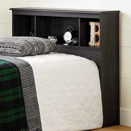 South Shore Zach Bookcase Headboard-Twin-Gray Oak