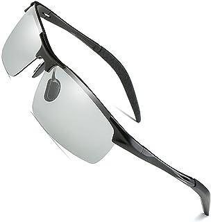 1245279c41 MOTELAN Men s Photochromic Polarized UV400 Sunglasses for Outdoor Fishing  Golf Beach Baseball Sports