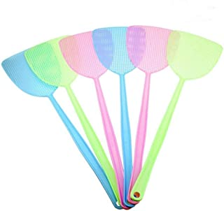 5Pcs Fly Swatter Three Colors Manual Special Police Pest Control Plastic, Long Handle Multiple Colors, Sweet