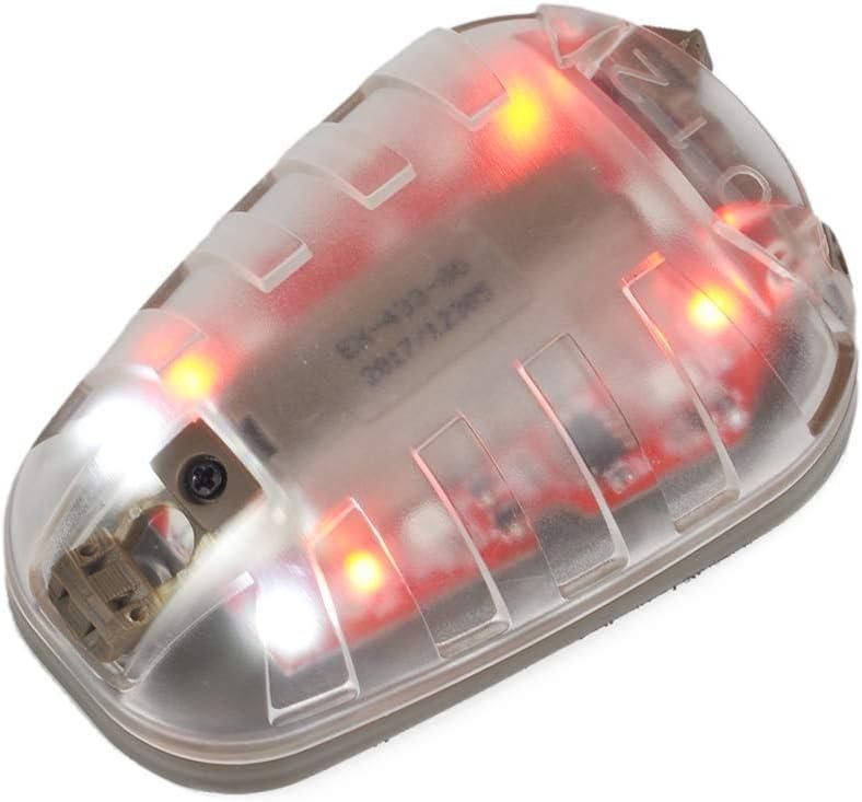 Will Outdoor Casco t/áctico luz estrobosc/ópica infrarroja militar aeron/áutica luz de supervivencia r/ápida impermeable casco luz l/ámpara de mariquita y cinta m/ágica elemento de casco