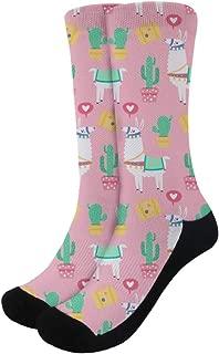 Women's Dress Socks Alpaca Llama Novelty Funny Crazy Crew Socks