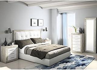 Dormitorio Matrimonio Rustico Blanco : Amazon.es: muebles de dormitorio de matrimonio