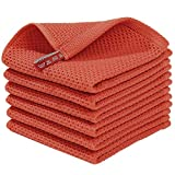 Homaxy 100% Cotton Waffle Weave Kitchen Dish Cloths, Ultra Soft Absorbent Quick Drying