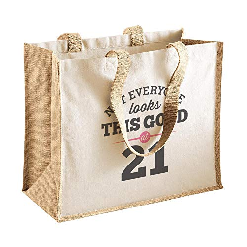 21st Birthday, Keepsake, Funny Gift, Gifts For Women, Novelty Gift, Ladies Gifts, Female Birthday Gift, Looking Good Gift, Ladies, Shopping Bag, Present, Tote Bag, Gift Idea (Beige)
