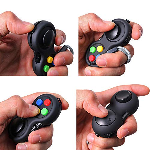 MOSHNOLY Fidget Controller Pad Cube Sensory Silent Puzzle Retro Game Fidget Toys Set Relief Stress and Anxiety Depression for ADHD Autism Adults and KidsMulticolor