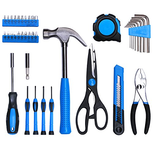 Best Choice 40-Piece All Purpose Household Tool Kit – Includes All Essential Tools for Home, Garage, Office and College Dormitory Use