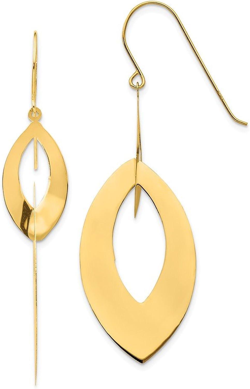 Beautiful Yellow gold 14K Yellowgold 14k Oval Dangle Earrings