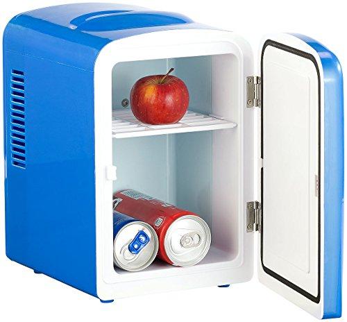 Rosenstein & Söhne Reisekühlschrank: Mini-Kühlschrank mit Warmhalte-Funktion, für 12 & 230 V, 4 Liter, blau (Dosen Kühler)