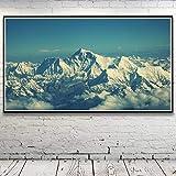 Schneelandschaft Berge Natur Gletscher Wolken Himalaya