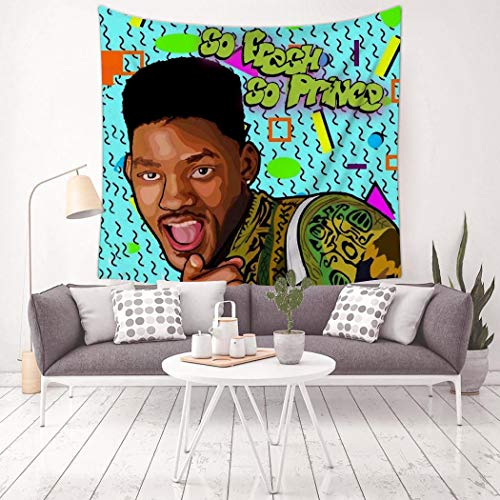 Bbjksyuyu Will-Smith Tapestry Decorative Wall Hanging Art Mural Bedroom Banner Tablecloth Living Room