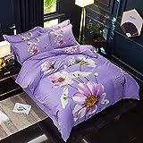 yaonuli Hochdichte und hochdichte vierteilige Bettwäsche mit 1,8 bis 2,0 m Bettbezug 220 * 240