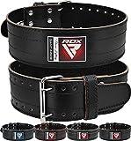 RDX Cinturon Musculacion Power Lifting Gimnasio Entrenamiento, 6mm Cowhide Cuero Lumbar Doble Hebilla Peso Levantamiento Cinturón para Gym Fitness Halterofilia Ejercicio De Físico Deadlifts