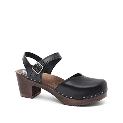 2166b2dc563 Sandgrens Swedish Wooden High Heel Clog Sandals for Women