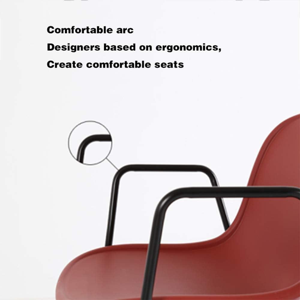 Chaise De Salle À Manger Confortable Rembourré Revêtement en Tissu - Chaise Visiteur avec Un Design Retro Accoudoirs Et Pieds en Bois,E C