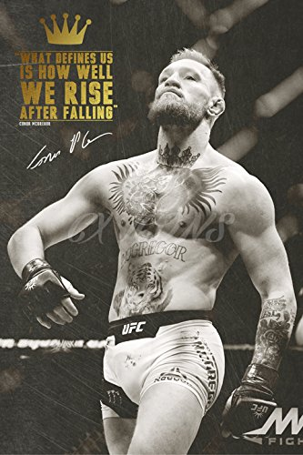 Conor McGregor quote Zitat Foto gedrucktes Poster – aufgedruckte Unterschrift – 12x8 inches (30x20 cm) - We Rise