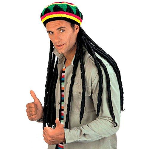 NET TOYS Bonnet de Rasta Premium avec Cheveux Perruque Dreadlocks Rasta Perruque Rasta avec Bonnet