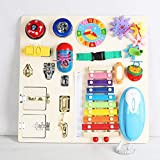 YINFENG Montessori for Toddlers - Ausili Didattici Montessori per Bambini Bordo Occupato Lacci delle Scarpe Sblocco del Giocattolo per L'educazione Precoce