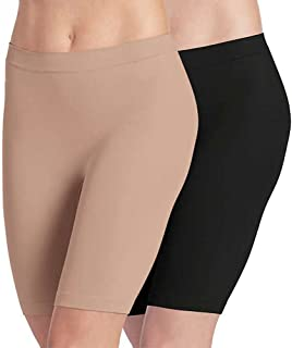 Ladies' Skimmies Slip Short Smooth Lightweight Mid-Length, 2 Pack