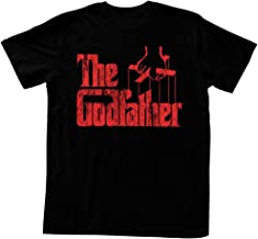 The Godfather Classic Crime Drama Film Red Logo On Black Adult T-Shirt Tee