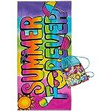 3C4G Summer Forever Towel & Sling Bag Set (2 Piece), Rainbow