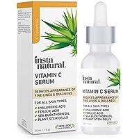 InstaNatural Natural & Organic Anti Wrinkle Reducer Vitamin C Serum 1 Oz