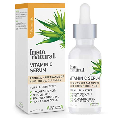 InstaNatural Vitamin C Serum with Hyaluronic Acid & Vit E -...