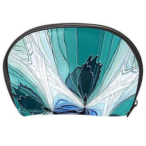 TIZORAX Kosmetiktasche mit abstraktem Kaleidoskop-Hintergrund, Reise-Organizer, Make-up-Tasche für Frauen und Mädchen