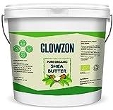 Mantequilla de karité orgánica y sin refinar de 1 kg, 100% natural, cruda y pura, certificado por la Asociación del Suelo por Glowzon