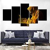 WJWORLD Jésus Saint-Esprit Impression sur Toile Peinture Décor À La Maison Mur Art Affiche 5 Pcs-100 * 55cm-Cadre