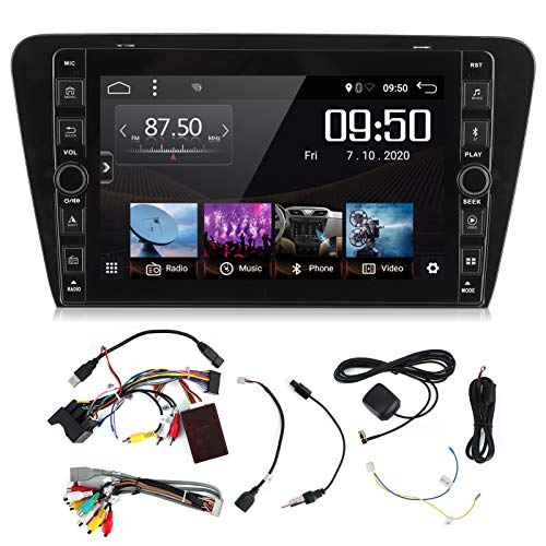 Yctze Navegación GPS de 9 pulgadas para coche, 2G + 32G 1080P Navegación GPS Radio Reproductor multimedia Video Audio apto para Octavia 2015-2019
